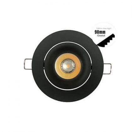 12 V MR16 Pack of 2 Recessed Downlight Recessed Spotlight Metal Square Light Frame Square Fixture Holders Adjustable Cutout 70mm for LED Halogen GU10 230 V