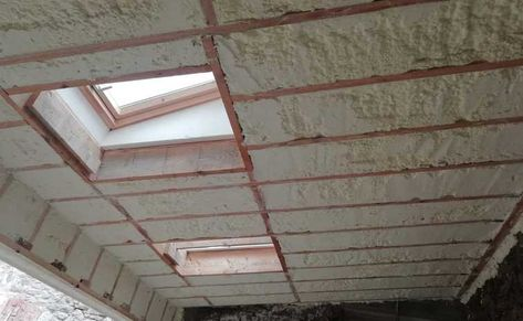 Roof Insulated With Spray Foam Insulation Ireland Spray Foam Foam Insulation Spray Foam Insulation