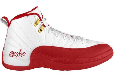 Red Jordan Date Fiba White Release 12 University 107 Air 130690 QrWxBoedC