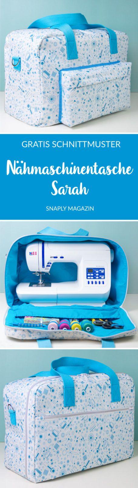 Nähmaschinentasche nähen – Schnittmuster kostenlos #snaplymagazin #nähen #snaply