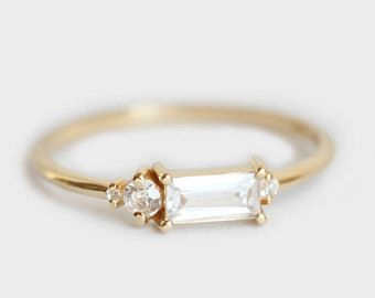 bague diamant baguette pas cher