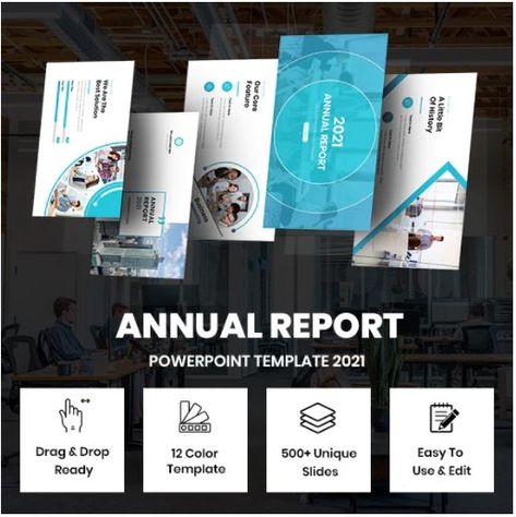 Annual Report Presentation Template Bundle 2021