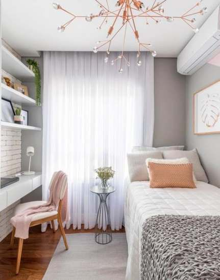 Bedroom Ideas For Women In Their 20s Design Gray 22 Trendy Ideas In 2020 Small Bedroom Small Bedroom Decor Small Room Bedroom