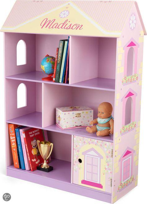 105,- bij bol.com poppenhuis/boekenkast