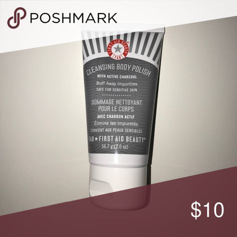 First Aid Beauty Cleansing Body Polish FAB cleansing body polish with active charcoal, 2 oz. Smoke free and pet free home. Bundle to save!! First Aid Beauty Makeup