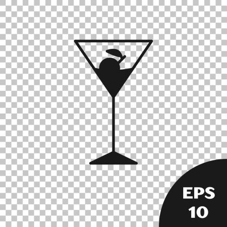 Black Martini Glass Icon Isolated On Transparent Background Cocktail Icon Wine Affiliate Glass Vector Illustration Transparent Background Martini Glass
