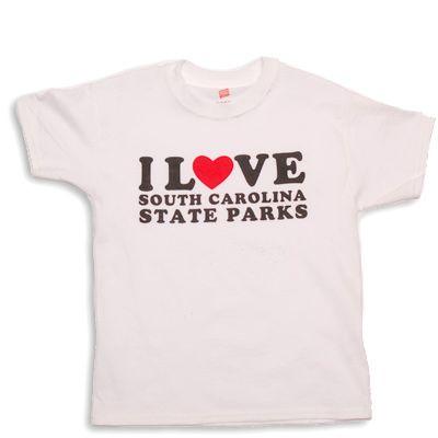 Get your youth-size I Love South Carolina State Parks tshirt!  #SCStateParks