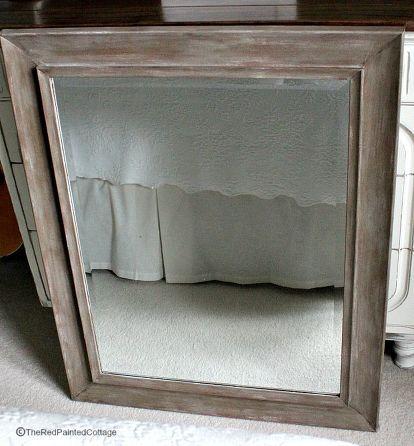 Painting Plastic Or Metal To Look Like Wood Refinish Mirror Frame Mirror Frame Diy Bathroom Mirror Frame