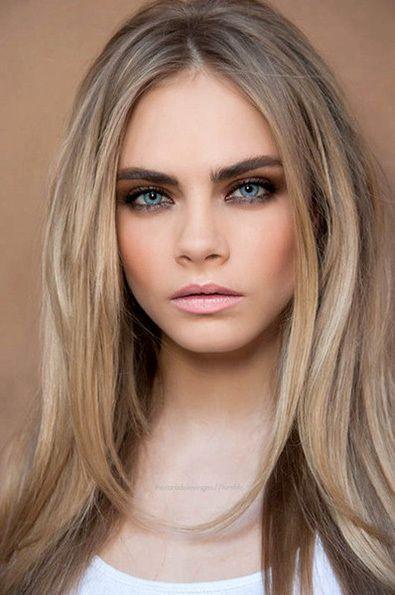 Hair, Bronde, Cara Delevingne, Coloration Cheveux Blond cendré, mèche blonde