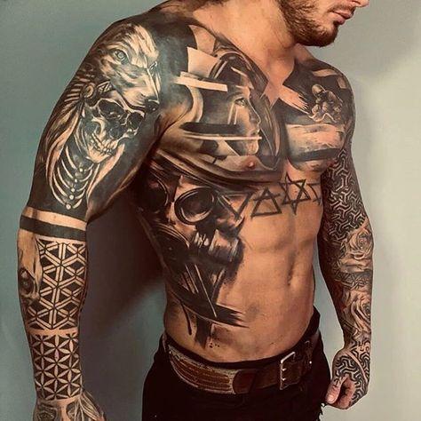 Tattoos männer arm brust