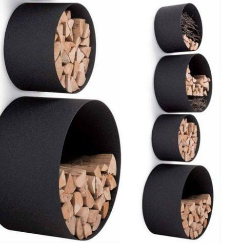 ideen für brennholzlagerung kaminholz lagern