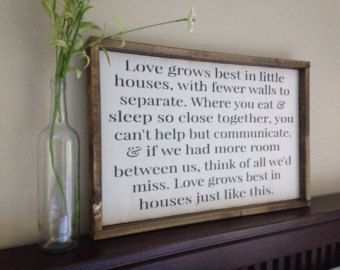 Home Garden Garden Plaques Small House Sign Love Grows Best In