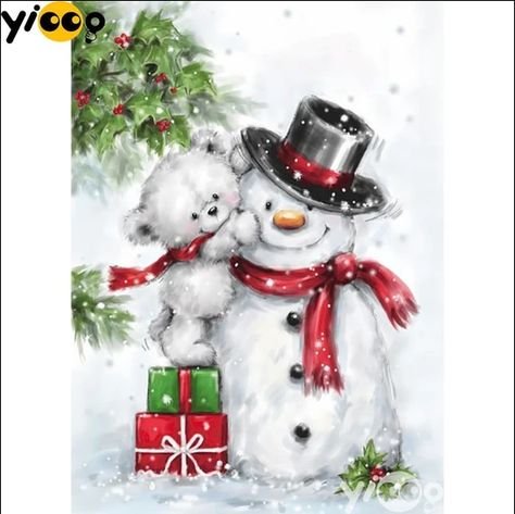 5D Diamond Painting White Bear Snowman Kit. Offered by Bonanza Marketplace. www.BonanzaMarketplace.com #diamondpainting #5ddiamondpainting #paintwithdiamonds #disneydiamondpainting #dazzlingdiamondpainting #paintingwithdiamonds #Londonislovinit #Bear