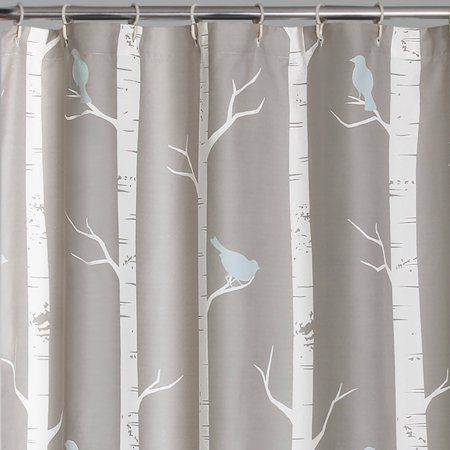 Bird On The Tree 72 X72 Shower Curtain Walmart Com Tree Shower Curtains Lush Decor Curtains