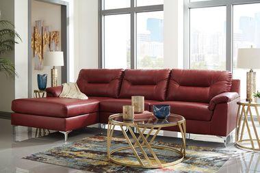 Tensas Modern Crimson Sectional Sofa Sectional Sofa Sofa Furniture