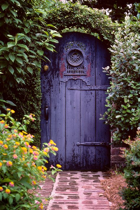 Garden gate, Longitude Lane, Charleston, SC  © Doug Hickok  All Rights Reserved Another Kodachrome from the old film vault.