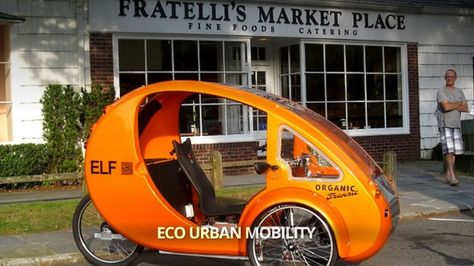 Organic Transit's ELF is a mating between a car and a bike