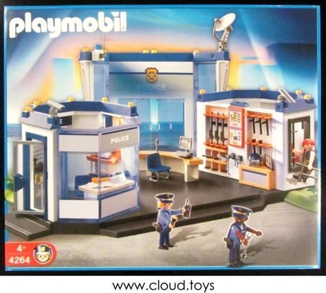 Discontinued Playmobil 4264 Police Station Headquarters With Jail New Misb Police Station Playmobil Playmobil Toys