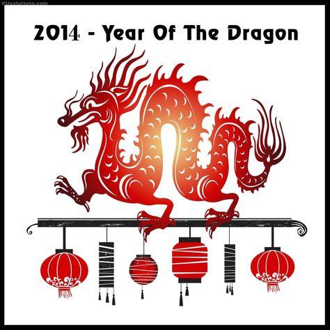 2014 année du dragon ? carte de voeux 2014