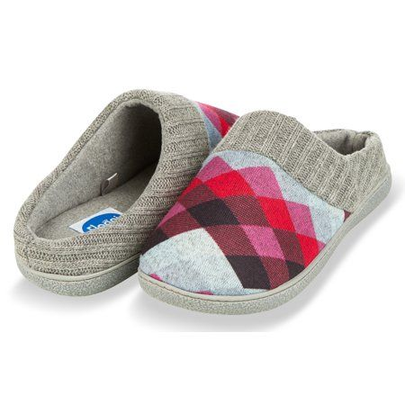 01ec6f695 Floopi - Floopi House Slippers for Women| Argyle Knit/ Terry Lined & Ribbed  Hand