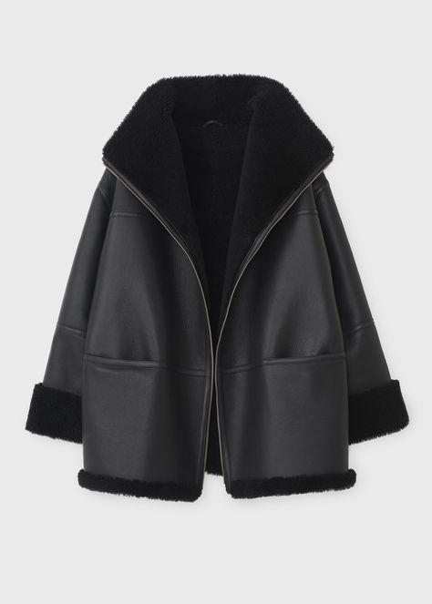 Menfi shearling jacket black