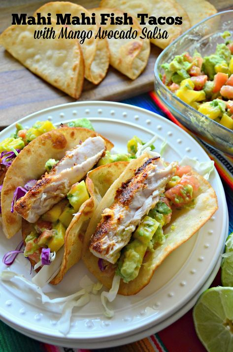 Mahi-Mahi Fish Tacos with Mango and Avocado Salsa Mahi Mahi Fish Tacos with Mango Avocado Salsa Related posts: 21 Day Fix Fish Tacos with Avocado Mango Salsa Mahi Mahi Fish Tacos, Grilled Mahi Mahi, Grilled Fish Tacos, Shrimp Tacos, Fish Recipes, Seafood Recipes, Mexican Food Recipes, Dinner Recipes, Taco Dip