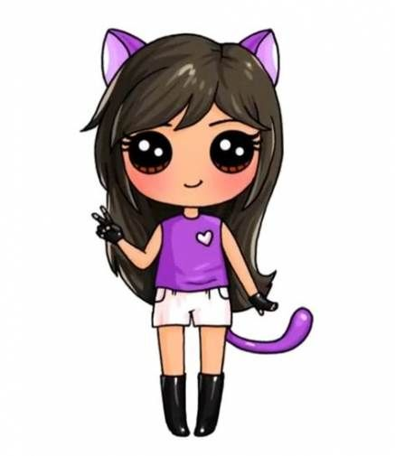Drawing Cat Ears Kitty 37 Ideas Cute Kawaii Drawings Kawaii Girl Drawings Cute Drawings Of People