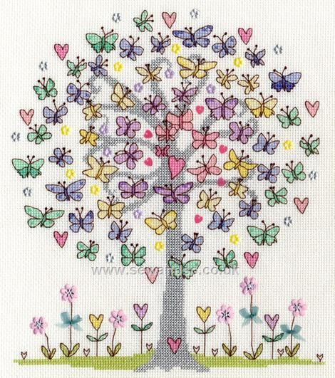 Buy Love Spring Cross Stitch Kit Online at www.sewandso.co.uk