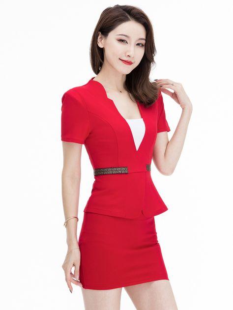 89a2b6b64b Wholesale Sexy V-Neck Wrapped Skirt Club Women Suit XMG070437 |  Wholesale7.net