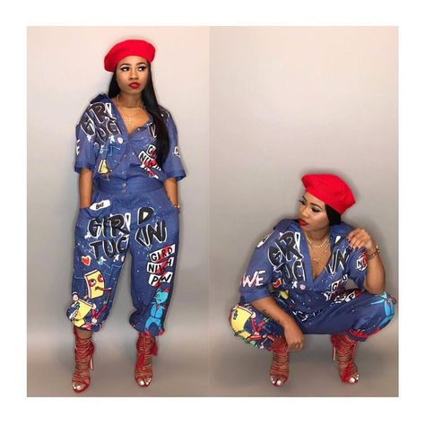 New Fashion Hip Hop Style Women Jumpsuit Special Letter Turn Down Collar Half Sleeve Romper Plus SIze Night Club Paysuit LD8103