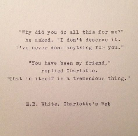 E.B. White Quote Hand Typed on Vinatge by WhiteCellarDoor on Etsy