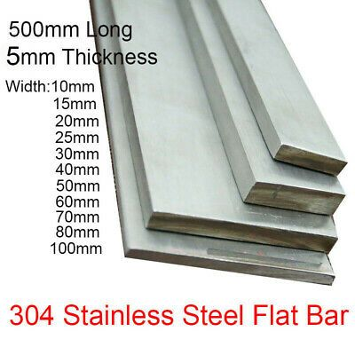 500mm Thick 5mm 304 Stainless Steel Flat Bar Metal Strip 10mm 15 20 100mm Width Ebay Stainless Steel Flat Bar Stainless Steel Sheet Metal Steel Sheet Metal
