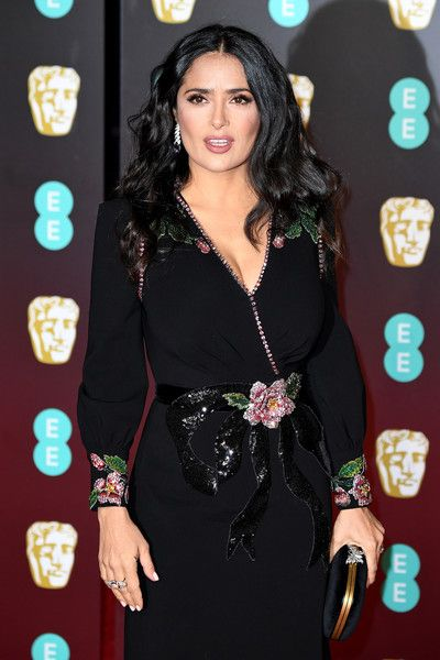 Actress Salma Hayek attends the EE British Academy Film Awards (BAFTA) held at Royal Albert Hall.