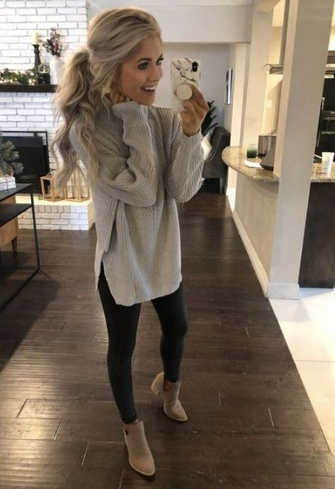 20 Casual Fall Outfits Ideas for Women Fashionista Trends - Damen Mode 2019 Winter Outfits For Teen Girls, Mom Outfits, Casual Fall Outfits, Outfits For Teens, Cute Outfits, Girly Outfits, Girls Weekend Outfits, Casual Office Outfits Women, Fall Work Outfits