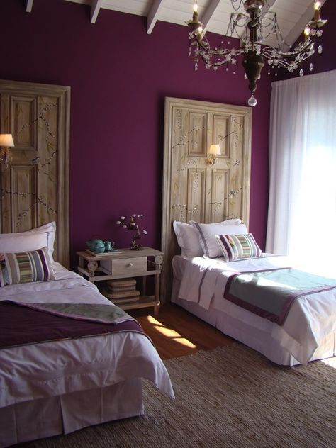 interni color ametista viola glicine | Camere da letto viola ...