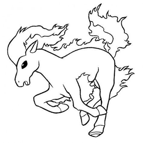 Ponyta Un Pokemon De Feu Coloriage Pokemon Coloriage