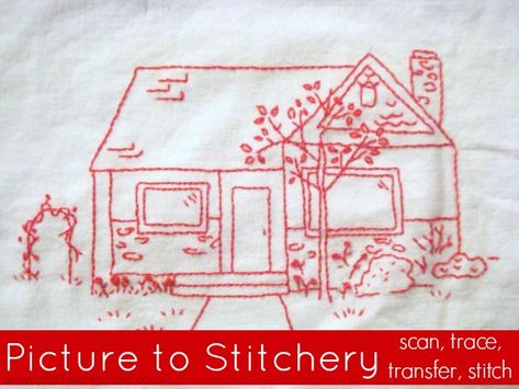 Learn how to take a picture and make it into the embroidery pattern. This embroidery tutorial will show you how to scan, trace, transfer and stitch.
