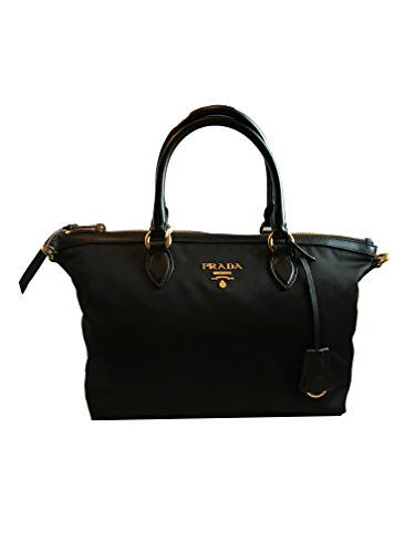 7836b442383 Prada Women's Black Tessuto Lucerto Handbag 1BA016 in 2019 | Bags ...