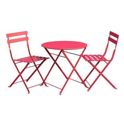 Set salon de jardin enfant table+2 chaises fushia (Salon de ...