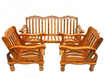 Teak Wooden Sofa Set With Cushion Wooden Sofa Set Wooden Sofa Wooden Sofa Set Designs