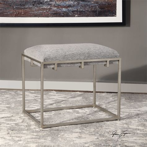 Pleasant Uttermost Edie Silver Small Bench Uttermost Accent Cjindustries Chair Design For Home Cjindustriesco