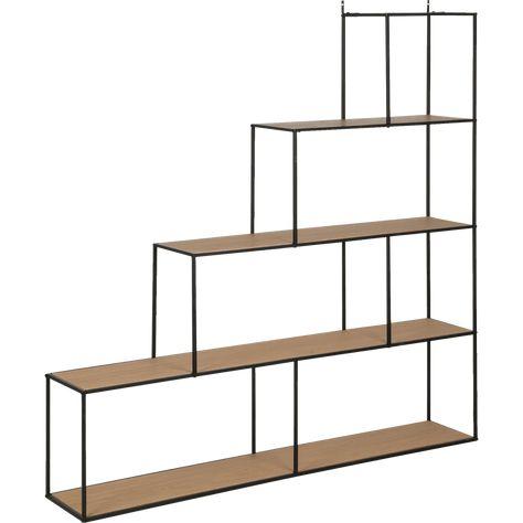 Etagere Escalier En Acier Et Placage Chene Alinea En 2020 Etagere Escalier Escaliers En Acier Et Placage Chene