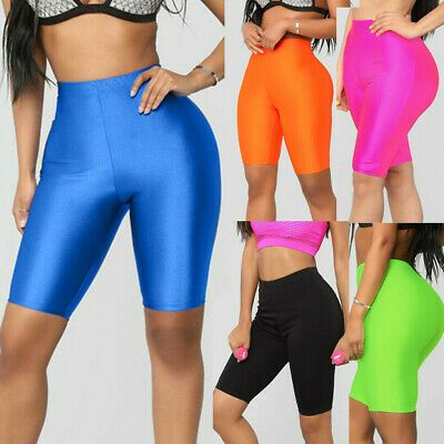 Womens Stretch Biker Bike Shorts Workout Spandex Leggings Knee Length Leggins Deportivos Pantalones Cortos De Entrenamiento Pantalones Cortos Hasta La Rodilla