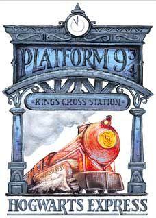 Image result for king's cross station harry potter illustration