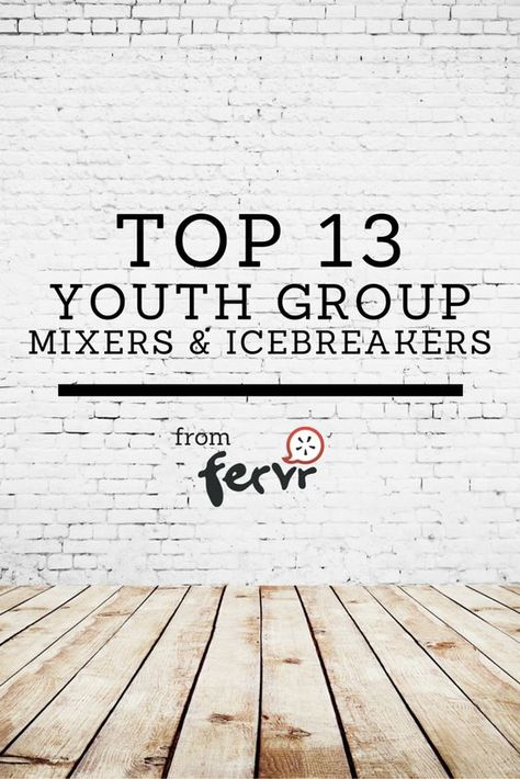Top 13 youth group mixers & icebreakers: Top 13 youth group mixers & icebreakers collected from some veteran youth leaders!