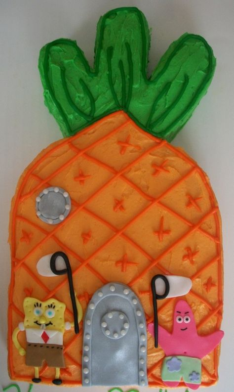 2D Spongebob Pineapple House Cake... Spongebob does know best when it comes do houses ;)