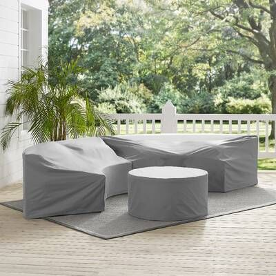 Michal 4 Piece Rattan Sectional Seating Group With Cushions In 2020 Outdoor Furniture Covers Furniture Vinyl Furniture Covers