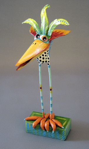 whimsical island color paper mache