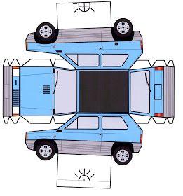 Coches Y Camiones Recortables Con Imagenes Molde De Carro