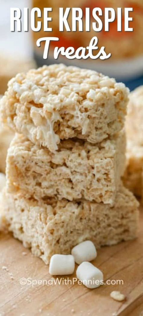 Extra Chewy Rice Krispie Treats {Simply Delicious} - Spend With Pennies #ricekrispiestreats These homemade rice krispie treats couldn't be easier or more delicious. They're great for bake sales and an easy rice krispie treat recipe that kids love! #spendwithpennies #ricekrispies #ricekrispietreats #homemadericekrispietreats #ricekrispie #ricekrispiesrecipe